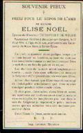 Souvenir Mortuaire NOËL Elise (1886-1911)ép. DE WILDE, Th. Morte à MOUSTIER-SUR-SAMBRE - Images Religieuses
