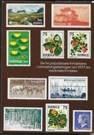 SVEZIA - 10 MIGLIORI FRANCOBOLLI 1977 - NUOVA - Stamps (pictures)