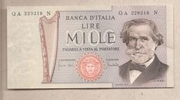 """Italia - Banconota Non Circolata SPL Da 1000 Lire """"Verdi II° Tipo"""" P-101a - 1969 - [ 2] 1946-… : République"""