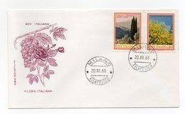 Italia - 1968 - Busta FDC Filagrano - Flora Italiana - Con Doppio Annullo Milano - (FDC13832) - 6. 1946-.. Repubblica