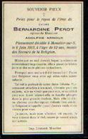 Souvenir Mortuaire PEROT Bernardine (1861-1913) Morte à MOUSTIER-SUR-SAMBRE - Images Religieuses
