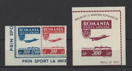 ROUMANIE . YT PA  N° 36/37 Et ND   Neuf **    1946 - Poste Aérienne