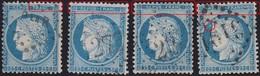 N°60A Reconstitution Des Positions 32 33 34 Et 35G3, Variétés Suarnet 31 30 29 Et 28, Bien Visibles, TB - 1871-1875 Cérès