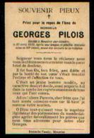 Souvenir Mortuaire PILOIS Georges (1886-1912) Mort à MOUSTIER-SUR-SAMBRE - Images Religieuses