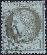N°50 étoile 15, Belle Frappe, Les étoiles Chiffrés Sont Rares Sur Ce Timbre, TB - 1871-1875 Cérès