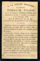 Souvenir Mortuaire PILOIS Rosalie (1842-1903) Vve NOËL, G. Morte à MOUSTIER-SUR-SAMBRE - Images Religieuses