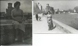 2 Photos Skopje.Macedonia 1962.Stone Bridge - Orte