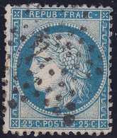 N°60A Oblitéré étoile 4 Ex 24, Très Belle Frappe, 1er Choix - 1871-1875 Cérès