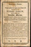 Souvenir Mortuaire PONCIN Pierre (1825-1879) Mort à BALÂTRE-SAINTE-ALDEGONDE - Images Religieuses