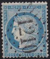 N°60A Oblitéré GC 1210 De Crecy En Ponthieu (76), TB - 1871-1875 Cérès