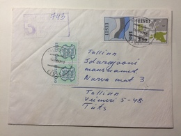 ESTONIA - 1992 Cover Registered Tallin - Estland