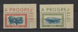 ROUMANIE . YT  PA N° 34/35  ND   Neuf **    1946 - Poste Aérienne