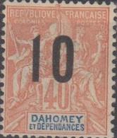 Dahomey 1912 10/40c MiN°39 MH/* - Benin – Dahomey (1960-...)