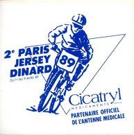 Autocollant. 2e Paris Jersey Dinard.1-9 Avril 1989. 10x10mm - Cyclisme