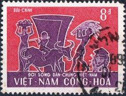 VIET NAM, VIETNAM, FESTA DEL LAVORO, 1967, FRANCOBOLLO USATO, Mi 387,  YT 313 - Vietnam
