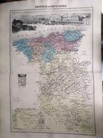 Carte Plan De La Province Ou Departement D'alger Issu De L'atlas Migeon De 1886 - Geographical Maps