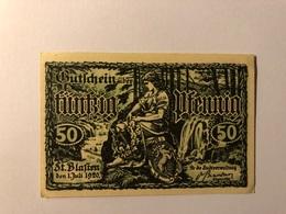 Allemagne Notgeld St Blasten 50 Pfennig - [ 3] 1918-1933 : République De Weimar