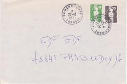 Lettre 1991 Oblitération TàD Manuel Type A9 Centre De Tri 54 NANCY TRANSIT Meurthe Et Moselle Sur Briat 2,10 - Marcophilie (Lettres)