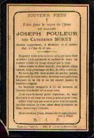 Souvenir Mortuaire MORET Catherine (1869-1897) ép. POULEUR J. Morte à MOUSTIER-SUR-SAMBRE - Images Religieuses