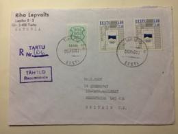ESTONIA - 1992 Cover Registered Tartu To Liscard GB - Estland