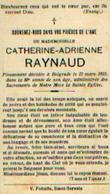 Souvenir Mortuaire RAYNAUD Catherine (1847-1933) Morte à BELGRADE - Images Religieuses