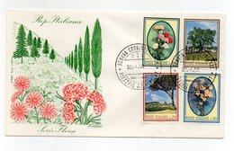 Italia - 1966 - Busta FDC Filagrano - Serie Flora - Con Doppio Annullo Genova - (FDC13833) - 6. 1946-.. Repubblica