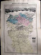Carte Plan De La Province Ou Departement De Constantine Issu De L'atlas Migeon De 1886 - Geographical Maps