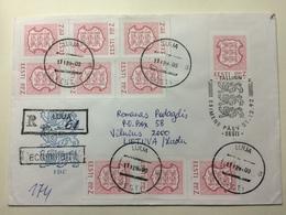 ESTONIA - 1992 Cover Registered Luua To Vilnius Lithuania - + Tallinn Handstamp - Estonie