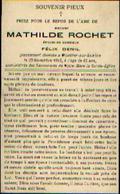 Souvenir Mortuaire ROCHET Mathilde (1871-1913) ép. DENIL, F. Morte à MOUSTIER-SUR-SAMBRE - Images Religieuses