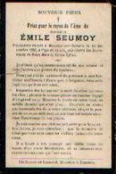 Souvenir Mortuaire SEUMOY Emile (1880-1903) Mort à MOUSTIER-SUR-SAMBRE - Images Religieuses