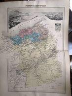 Carte Plan De La Province Ou Departement D'oran Issu De L'atlas Migeon De 1886 - Geographical Maps