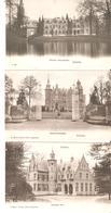 3 CP. De SCHOTEN - Entrée Deuzelhof-Schooten Hof-Château Calixberghe Neuves Hoelen 274-305-306 - Schoten