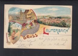 Dt. Reich Litho-AK  Gruss Aus Lauterbach 1910 Maar - Lauterbach