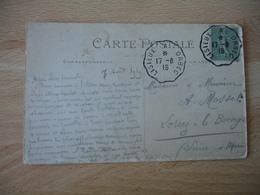 Lisieux  A Orbec Cachet Ambulant Convoyeur Poste Ferroviaire Sur Lettre - Poststempel (Briefe)