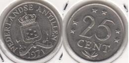 Antille Olandesi 25 Cents 1971 KM#11 - Used - Antillen (Niederländische)