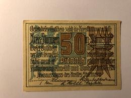 Allemagne Notgeld Storman 50 Pfennig - [ 3] 1918-1933 : République De Weimar