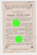 Jufvrouw Thérésia VAN DEN DORPE  MEIRE 1813 - 1881 Congregatie Van O.L.V. - Décès