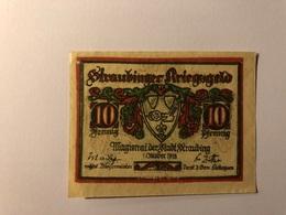 Allemagne Notgeld Straubing 10 Pfennig - [ 3] 1918-1933 : République De Weimar