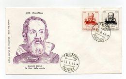Italia - 1964 - Busta FDC Filagrano - IV° Centenario Nascita Galileo Galilei - Con Doppio Annullo Trento - (FDC13835) - 6. 1946-.. Repubblica