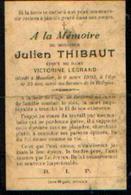 Souvenir Mortuaire THBAUT Julien (1868-1903) Mort à MOUSTIER-SUR-SAMBRE - Images Religieuses