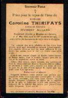 Souvenir Mortuaire THIRIFAYS Carline (1825-1899) Mort à MOUSTIER-SUR-SAMBRE - Images Religieuses