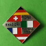 SPORT INVERNALI SPILLE  Trofeo 5 Nazioni Passo Rolle 1985 - Italia