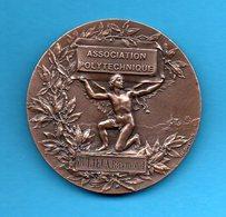 Médaille En Bronze (écrin) - 1913 - Association Polytechnique - 1er Prix De Littérature Française - France