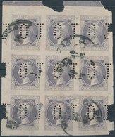 "Autriche - Austria 1867 No 42 - 9 Block + MULTIPERFIN "" J O "" - Journaux"