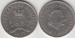 Antille Olandesi 1 Gulden 1971 KM#12 - Used - Antillen (Niederländische)