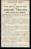 Souvenir Mortuaire TREFOIS Joseph (1857-1908) Mort à MOUSTIER-SUR-SAMBRE - Images Religieuses