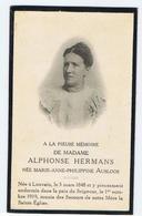 Rouwkaartje Alphonse Hermans - Ausloos, Pieuse De Mémoire 1919 - Sonstige