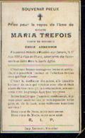 Souvenir Mortuaire TREFOIS Maria (1849-1909) Vve ANDERSON, E.morte à MOUSTIER-SUR-SAMBRE - Images Religieuses