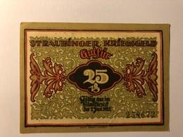 Allemagne Notgeld Straubing 25 Pfennig - [ 3] 1918-1933 : République De Weimar