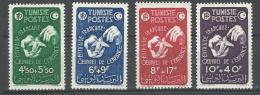 "Tunisie YT 320 à 323 "" Oeuvres De L'Enfance "" 1947 Neuf* - Tunisia (1888-1955)"